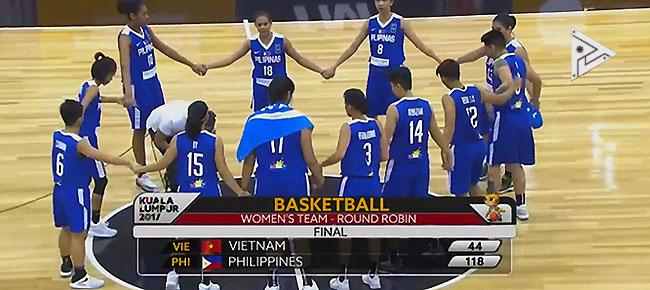 Perlas Pilipinas def. Vietnam, 118-44 (REPLAY VIDEO) SEA Games 2017 | August 25