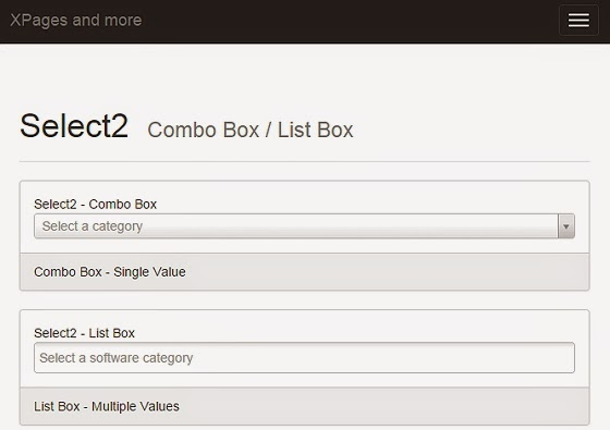 Select2 Placeholder Combo Box | XPages and more