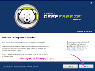 cara install deep freeze