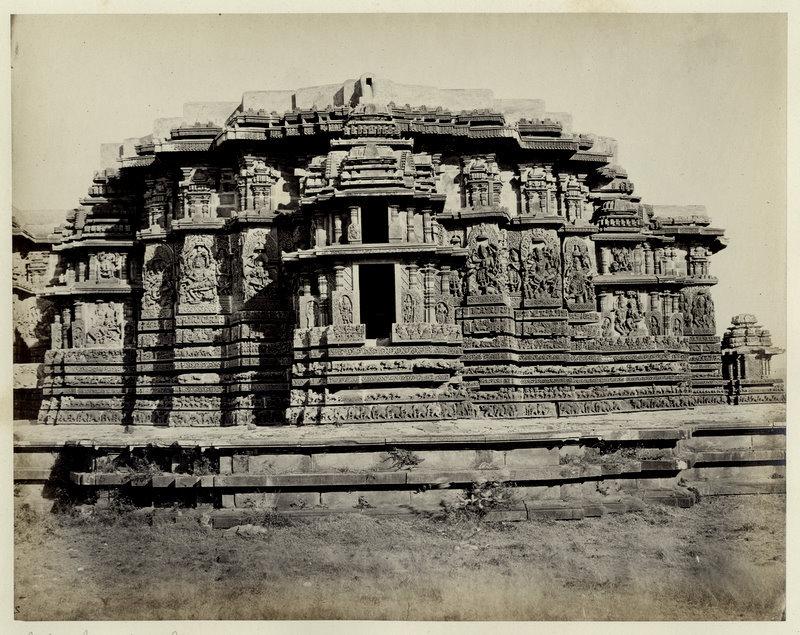 Hoysaleswara temple, Karnataka - 1870's