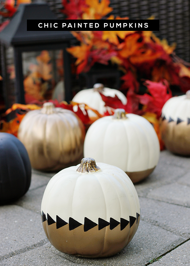 DIY Tutorial: Chic Painted Fall Pumpkins // Bubby and Bean