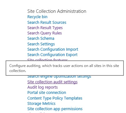 Audit log reports in SharePoint 2013 - Things to share - audit reports