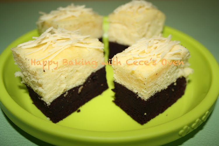 Resep Cake Kukus Durian: Happy Baking With......: Brownies Kukus Coklat Keju