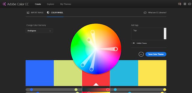 2. Adobe Color CC- Tools Skema Warna dari Adobe