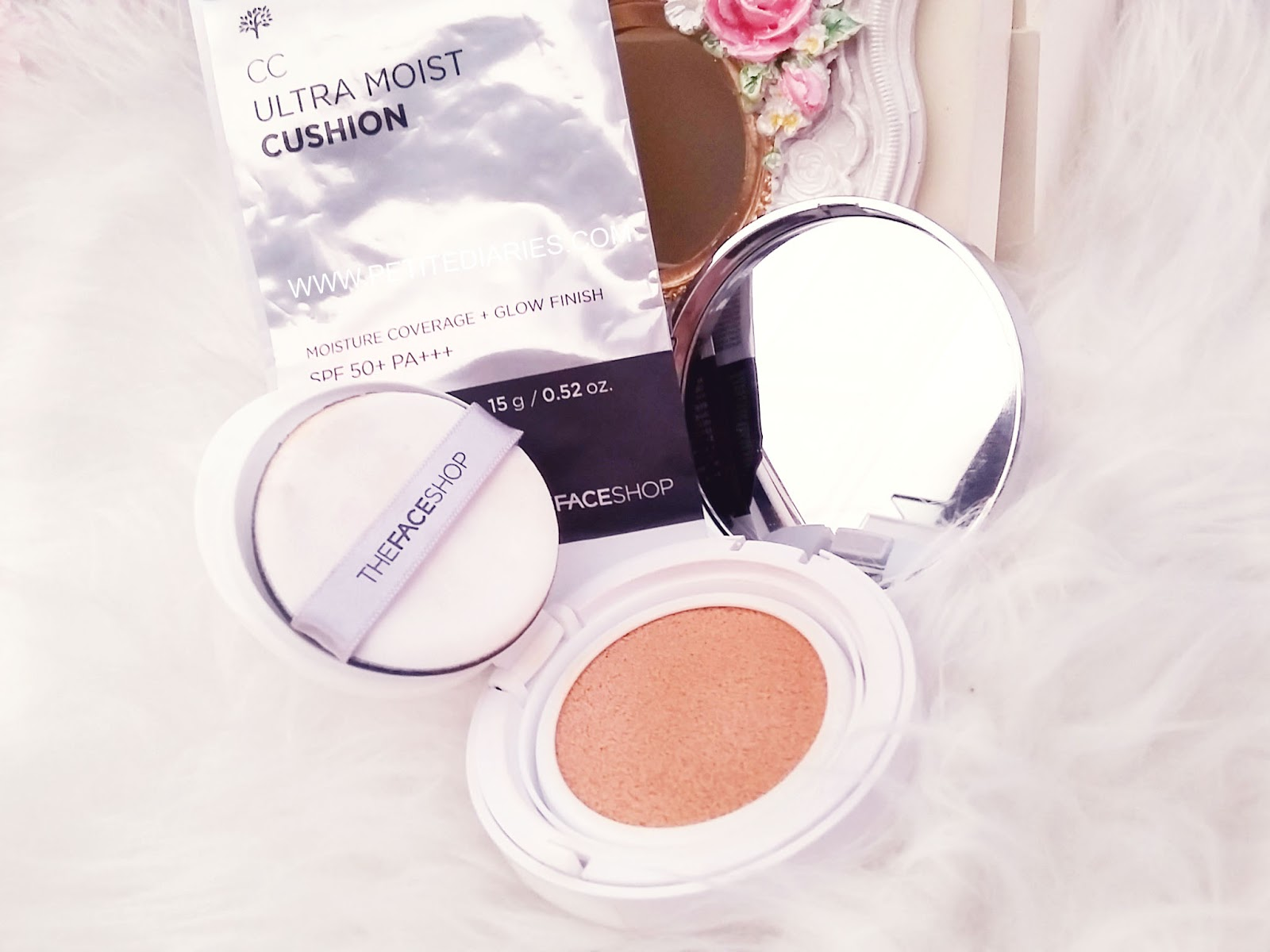 teh faceshop haul cc cushion ultra moist review