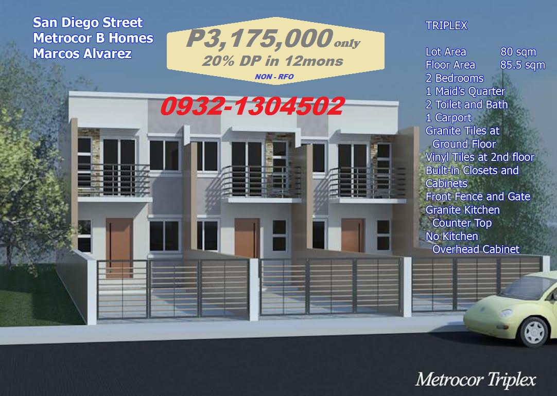 TRIPLEX HOUSE in San Diego St Metrocor Las Pinas | House and Lot ...