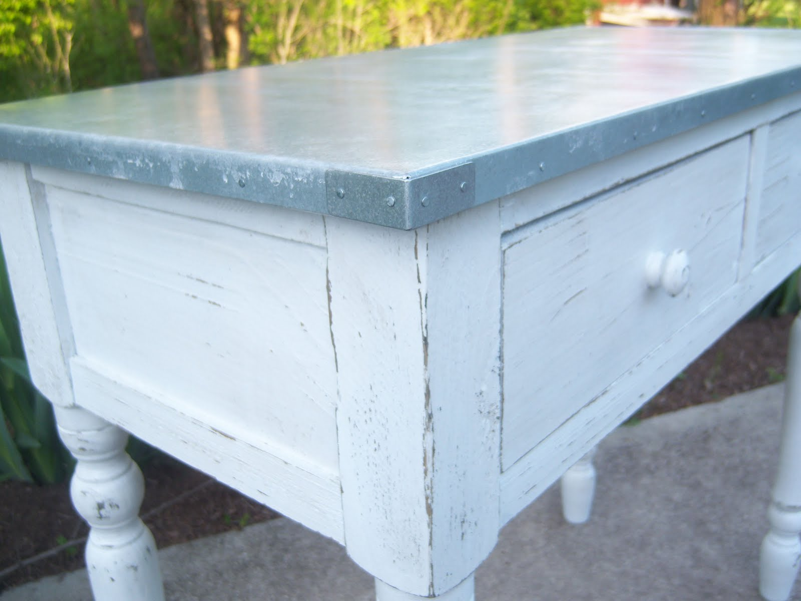 Vanhook Amp Co Metal Topped Table