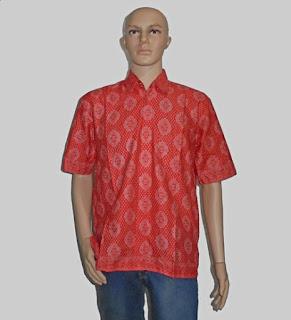 Baju Batik Pria [H1289] Merah
