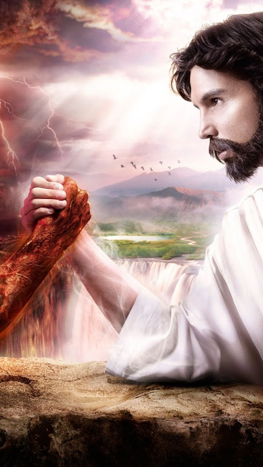 Jesus vs Evil   Galaxy Note HD Wallpaper