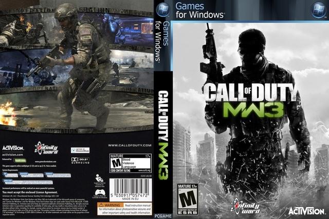Pc Games Cd Cover Call Of Duty Modern Warfare 3