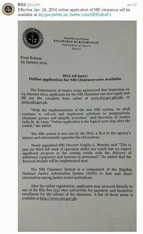 NBI Clearence Online Application