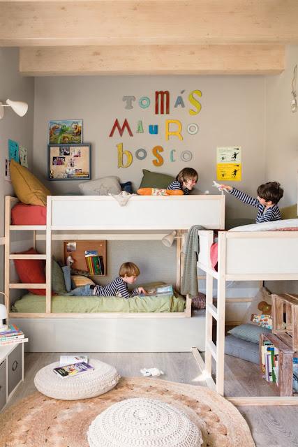amenajare camera 3 copii