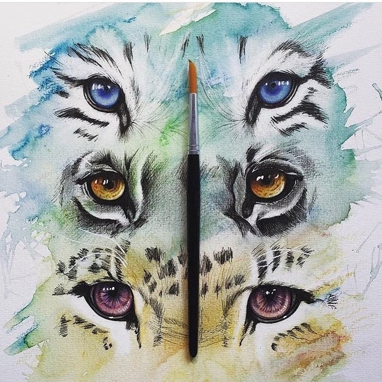 07-Cats-Eyes-Liam-James-Cross-Wild-Animals-Drawings-and-Paintings-www-designstack-co
