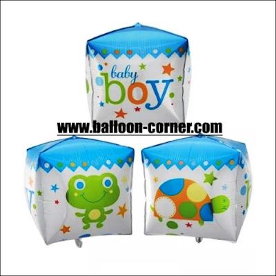 Balon Foil Kubus Baby Boy