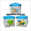 Balon Foil Kubus Baby Boy & Kubus Baby Girl (UKURAN BESAR)