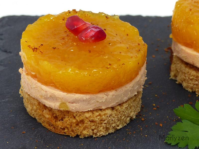 Foie gras au pain d'épices et chutney de mangue