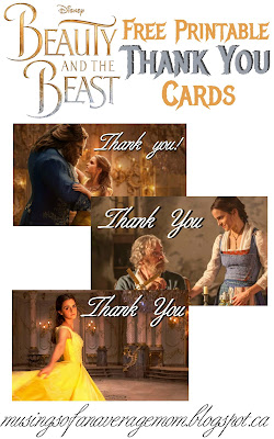 Beauty and the Beast thank you cards
