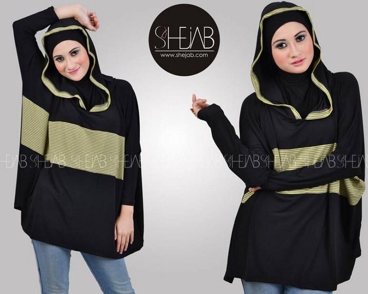Contoh Desain Baju Hijab Untuk Lebaran Terbaru