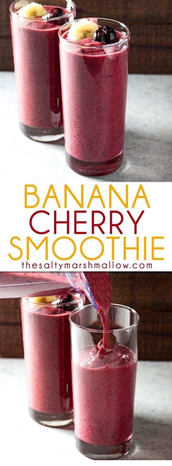 Banana Cherry Smoothie