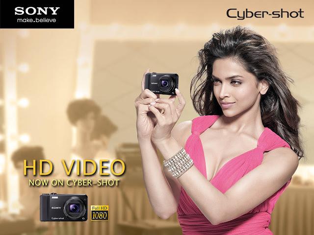 Actress Deepika Padukone Sony Cybershot Camera Ad Photoshoot displaying Long legs
