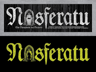 Castle Edition Nosferatu Glow in the Dark Screen Print by Chris Garofalo x Grey Matter Art