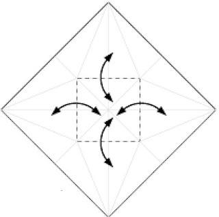 Bước 8: Gấp tạo nếp gấp và gấp về sau