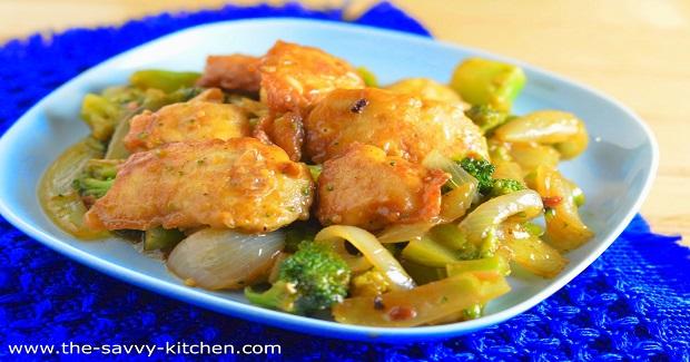Lighter Crispy Hunan Chicken