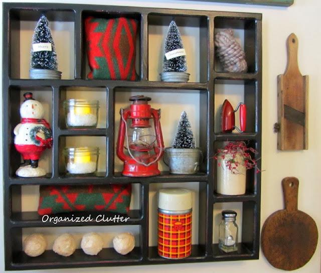 Rustic Christmas Shadow Box www.organizedclutterqueen.blogspot.com