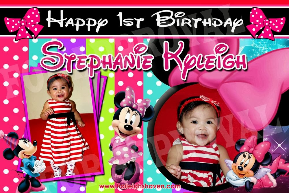 TARPAULIN / BANNER SAMPLES: MICKEY AND MINNIE | Haileigh's ...