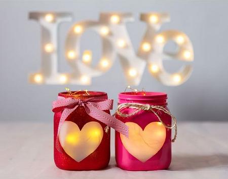 diy portavelas san valentín con tarros de cristas y velas facil y low cost