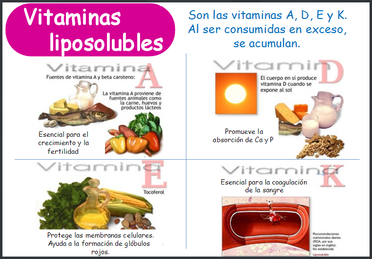 Las vitaminas hidrosolubles