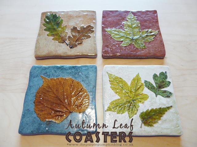Autumn Leaf Coasters | The Purple Pumpkin Blog