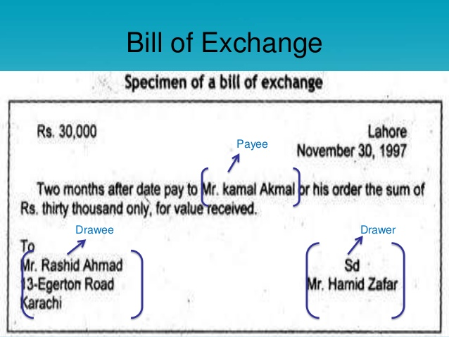 A U201cchequeu201d Is Bill Of Exchange Drawn On A Specified Banker And Not  Expressed To Be Payable Otherwise Than On Demand And Cheque Also Includes  The Electronic ...  Bill Of Exchange Sample