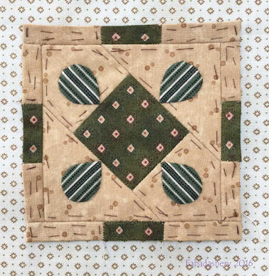Dear Jane Quilt - Block J13 Pam's Bells