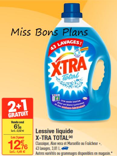 Miss Bons Plans Carrefour 3 Lessives Xtra Gratuites