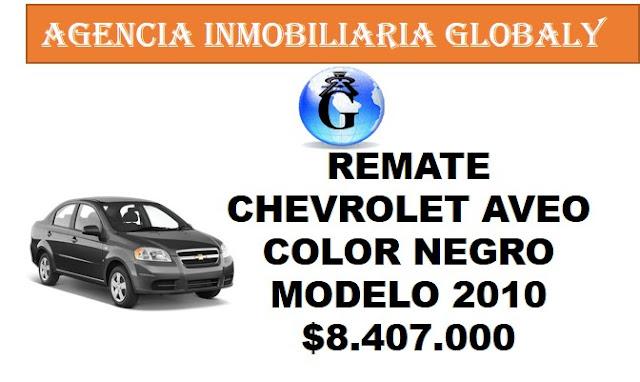 REMATE CARRO CHEVROLET AVEO 2010