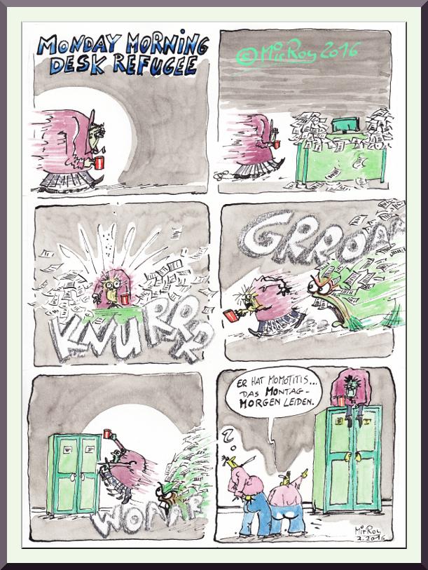 Ein Comic aus dem Büroalltag - aus dem Büro des Wahnsinns