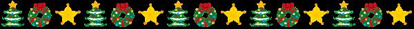 クリスマスのライン「ツリー飾り」