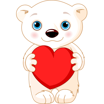 Polar Bear Heart Symbols Amp Emoticons
