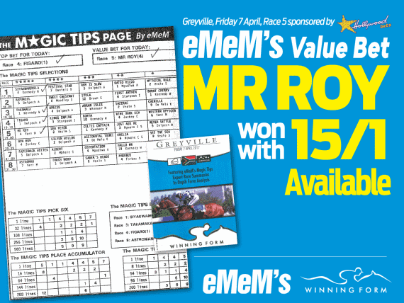 MR ROY - Value Bet at 15/1 - Winning Form - eMeM - Magic Tips