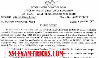 SSA Contact Teacher Re-engagement notice