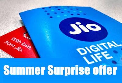 reliance Jio Summer Surprise offer
