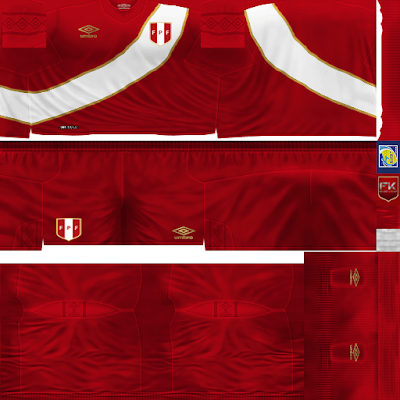 PES 6 Kits Peru National Team World Cup 2018 by FacaA/Ngel