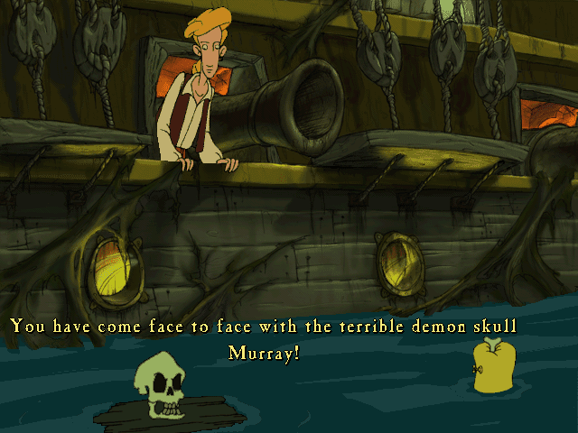 Curse of Monkey Island terrible demon skull Murray