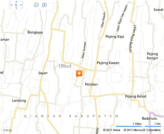 Ikat Batik Ubud Location Map,Location Map of Ikat Batik Ubud,Ikat Batik Ubud Accommodation Destinations Attractions Hotels Map Photos Pictures