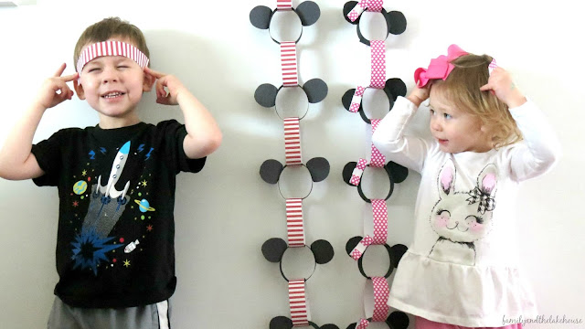 Family and the Lake House - Disney Paper Chain Link Countdown