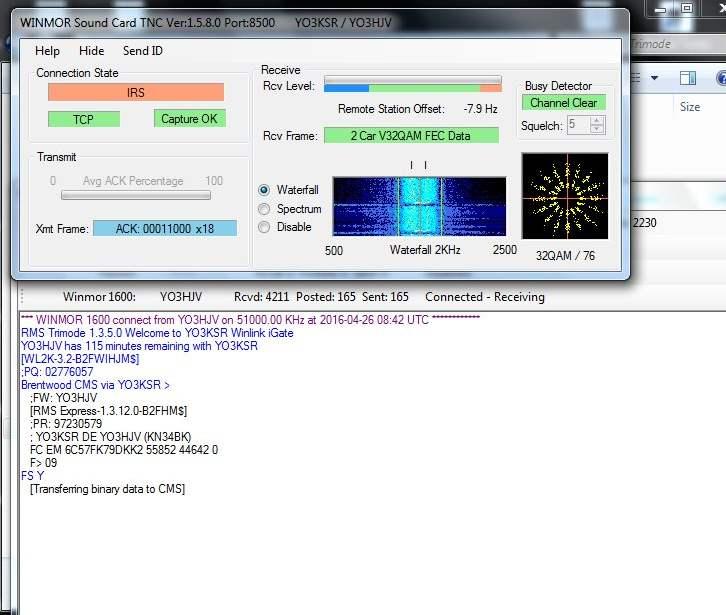 YO3HJV: RFSM2400 and WinLink Winmor