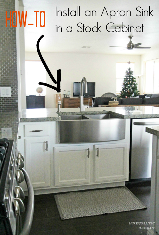 Learn How To Modify A Cabinet Accomidate An Front Sink