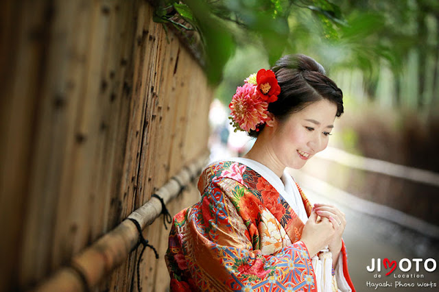 京都での前撮り撮影