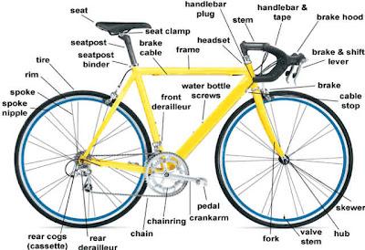 Anatomi Sepeda Balap / Road Bike